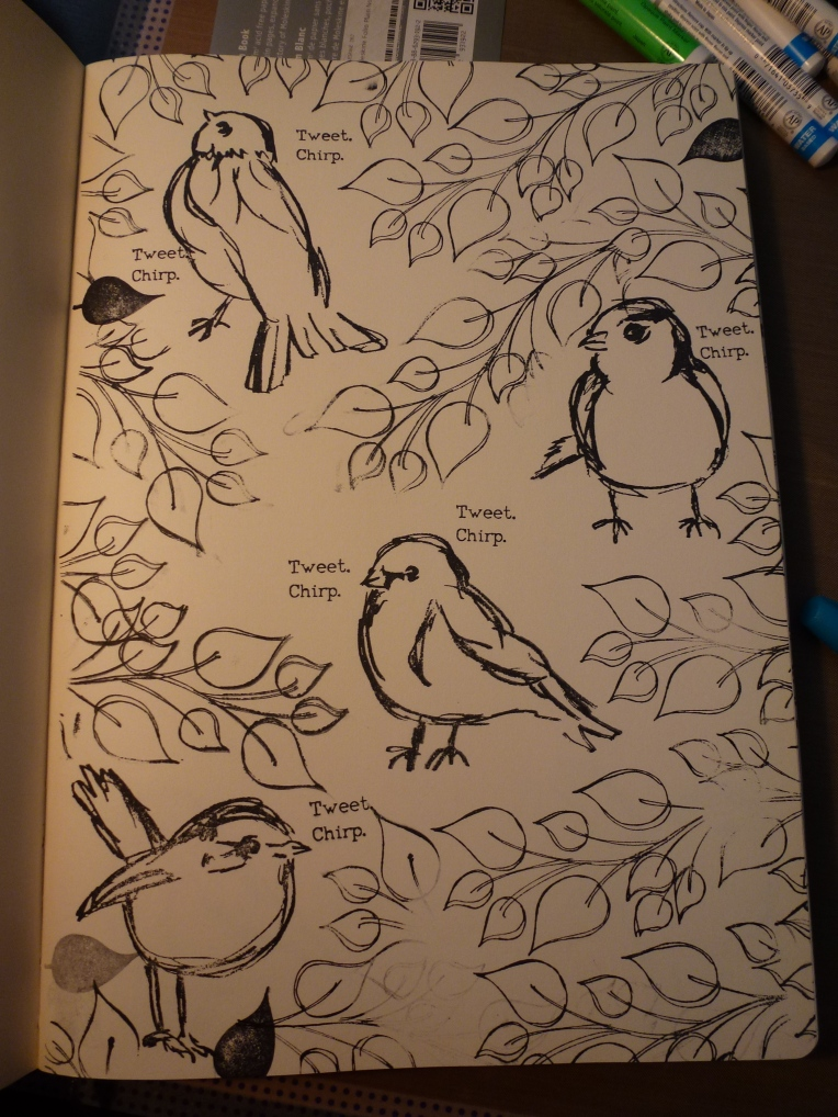 Now the birds are singing. Planning to add branches under the birds.