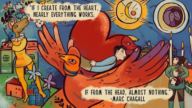 FB chagall quote