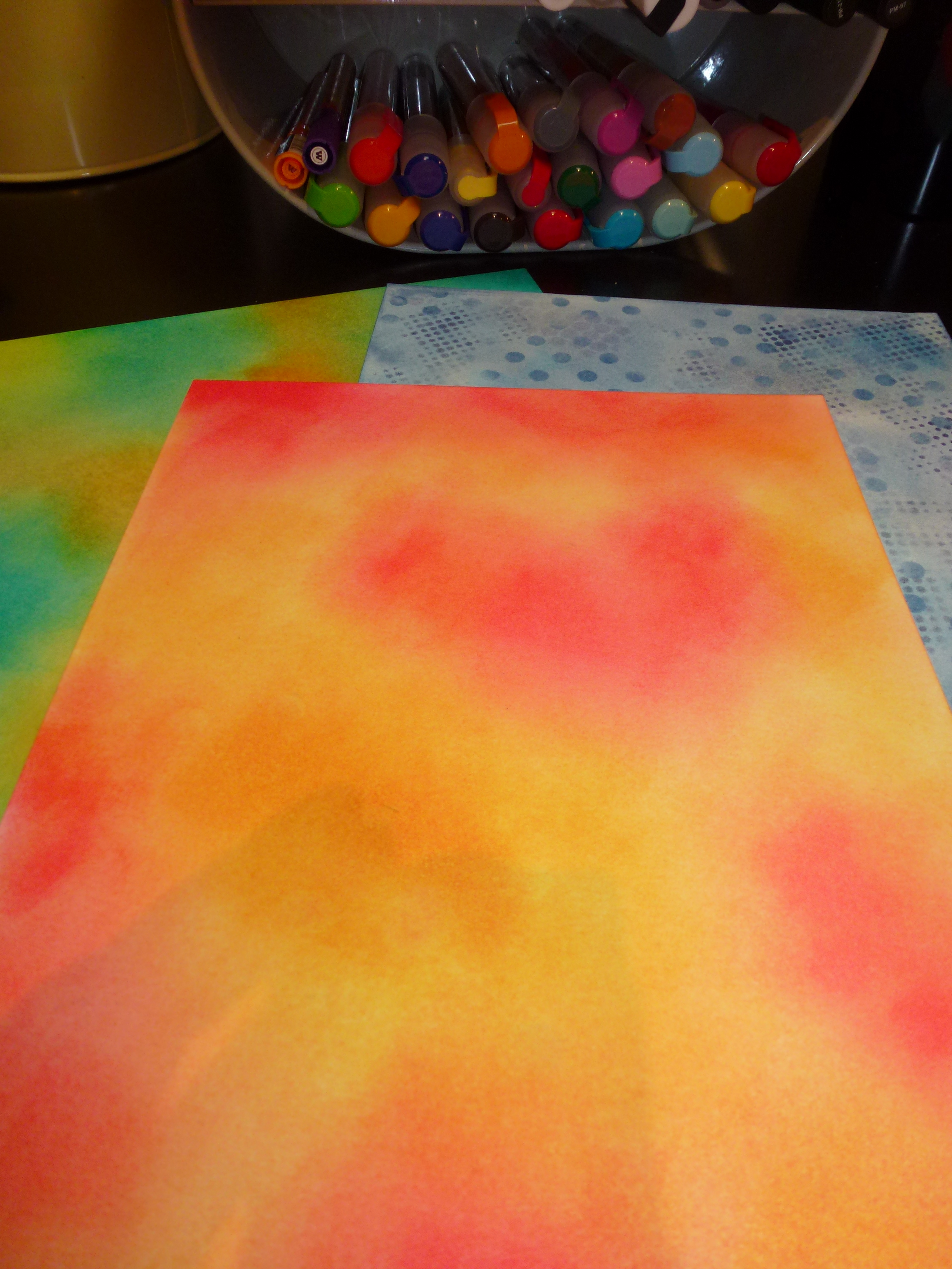 Art Journal Video Distress Ink Background Tutorial